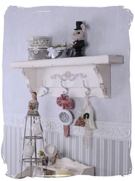 Wandregal Shabby Chic by Wandregal Vintage Garderobe Weiss Wandboard H 228 Ngeregal