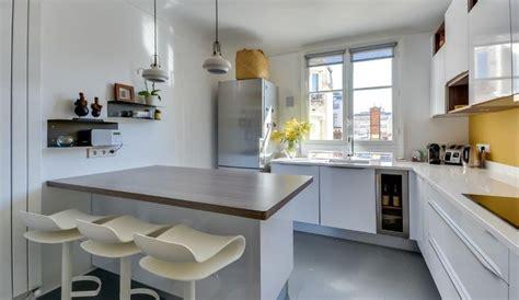 idee relooking cuisine amenagee dans  appartement