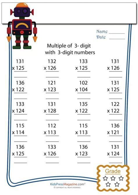 multiplication worksheet 3 digit by 3 digit 7