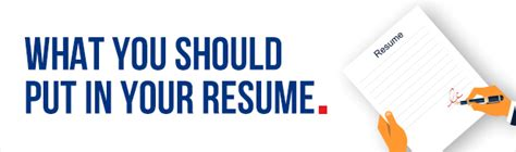 What Should You Put On Your Resume by What Should You Put In In Your Resume Etc Enterprise
