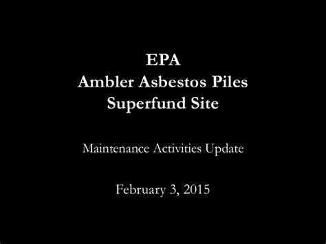 asbestos contamination  ambler pa reinstein