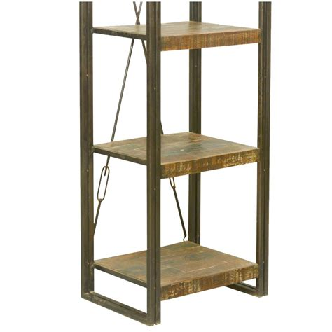 Etagere Wood L by Foxfield Reclaimed Wood Industrial 5 Tier Etagere Bookcase