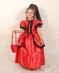 Resultado de imagen para disfraz dama antigua para niña
