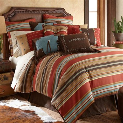 western striped lodge bedding  log cabins  rustic homes