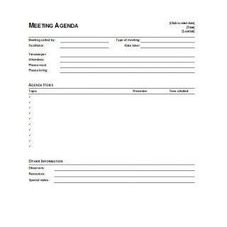 meeting agenda template docx