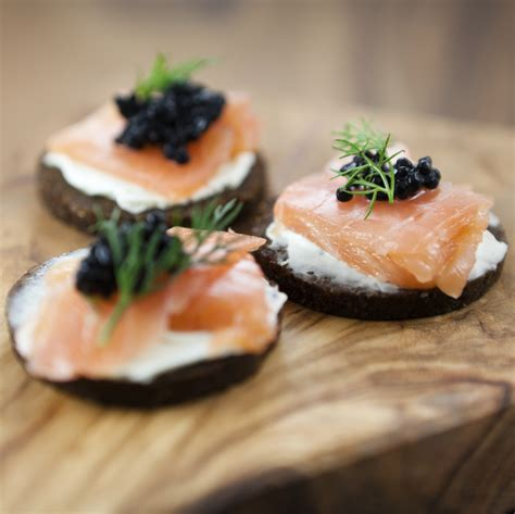 canape saumon smoked salmon and caviar canapés chefs 39