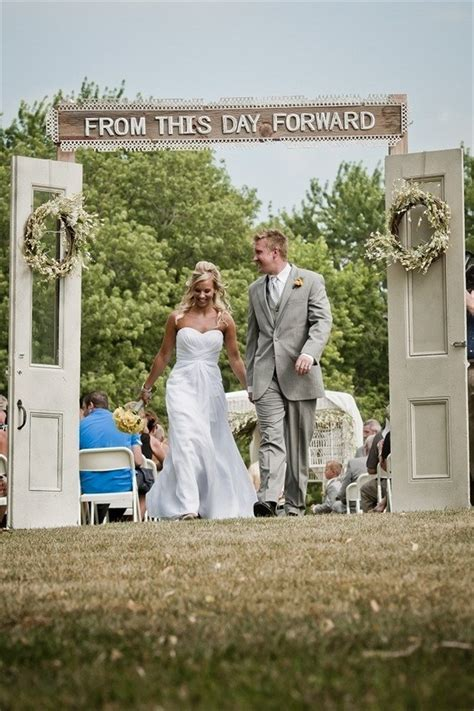 14 Most Beautiful Ceremony Backdrops Using Doors