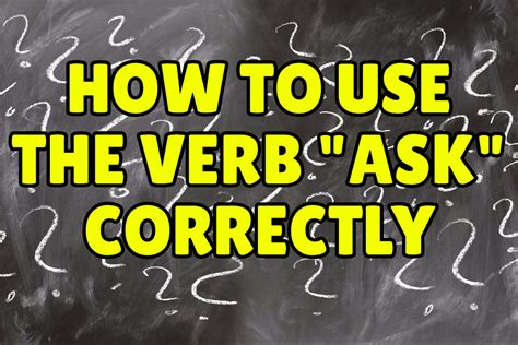 """How To Use The English Verb """"ask"""" Correctly  Espresso English"""
