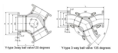 3 Way Valve Diagram by 120 Degrees Y Type Three Way Pneumatic Valve China