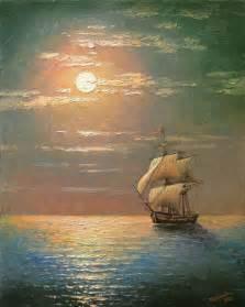 Oil Paintings Ships at Sea