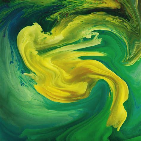 vl hurricane swirl abstract art paint green pattern