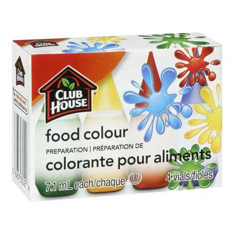 food coloring at walmart club house food colour preparation 4 vials walmart ca