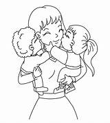 Coloring Mothers Mother Mom Sheets Printable Children Mamma Happy Kid Drawings Da Festa Della Per Toddlers sketch template