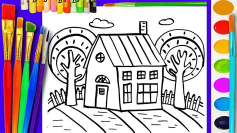 Coloring Page For Kids House Coloring Book For Children To