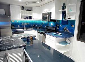 aquarium kitchen With kitchen colors with white cabinets with tropical fish metal wall art