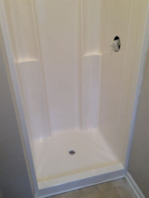 fiberglass shower fiberglass shower gelcoating and refinishing