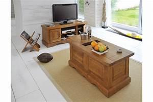 Meuble Tv En Chene : meuble tv bas rustique en ch ne massif hellin ~ Teatrodelosmanantiales.com Idées de Décoration