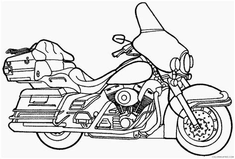 Police Motorcycle Coloring Pages Coloring4free