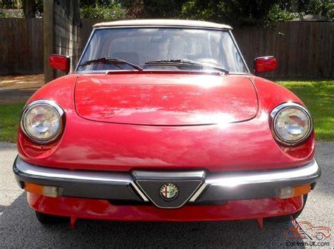 Alfa Romeo Restoration by 1988 Alfa Romeo Spider Complete Nut And Bolt Restoration