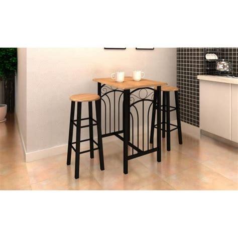 table haute de cuisine et tabouret lot avec une table haute de bar et 2 tabourets 39 39 p achat