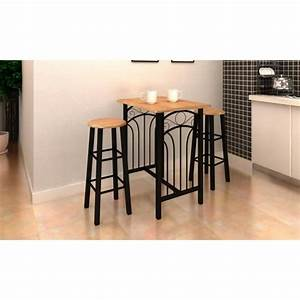 Table Haute Et Tabouret : lot avec une table haute de bar et 2 tabourets 39 39 p achat vente table de cuisine lot avec une ~ Teatrodelosmanantiales.com Idées de Décoration