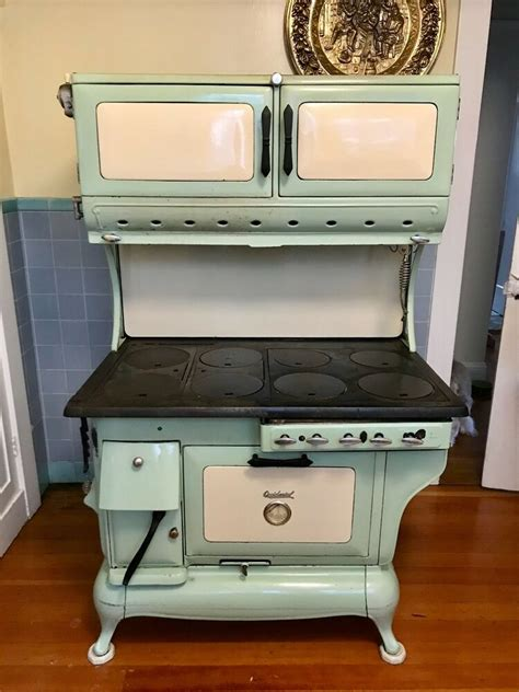 antique stove  hybrid gas  wood cook stove ebay