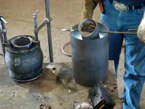 pouring a babbitt bearing