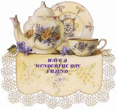 Wonderful Friend Glitter Graphics Cup Teapot Gifs