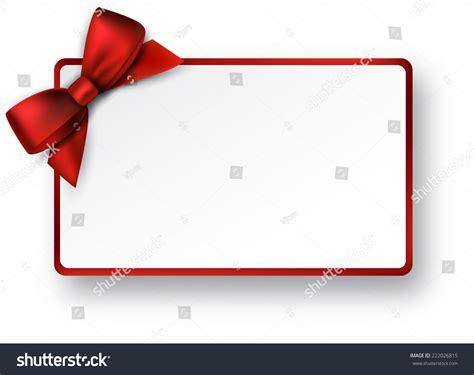 christmas rectangle gift card red satin stock vector