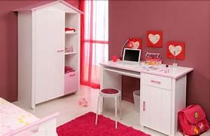 Bureau Chambre Fille : bureau enfants blanc fille secret de chambre ~ Teatrodelosmanantiales.com Idées de Décoration