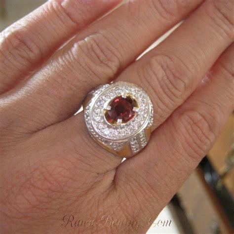 jual cincin pria bahan perak dengan batu mulia spinel 1 17cts