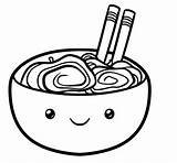 Kawaii Noodles Draw Ramen Drawing Step Easy Line Clipart Pop Tutorial Clipartmag sketch template