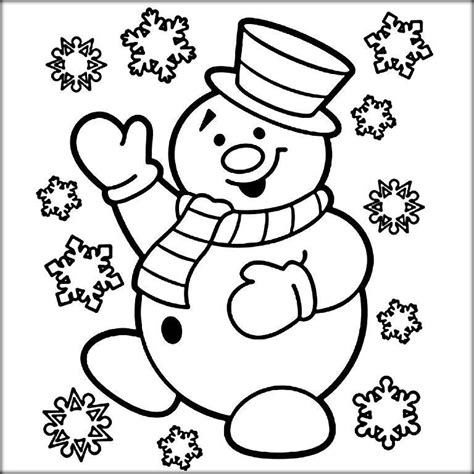 merry coloring pages for preschoolers color zini 613 | Christmas Snowman Coloring Page main1