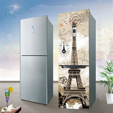 yazi eiffel tower pvc fridge door cover wall sticker mural