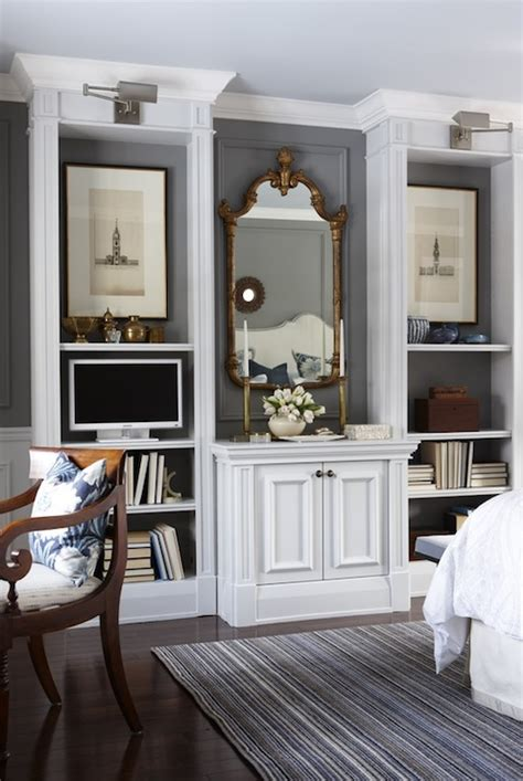 Bedroom Cabinets Grey by Built In Cabinets Bedroom Transitional Bedroom Para