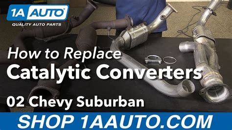 install replace catalytic converters  chevy