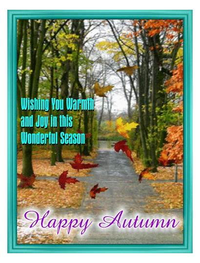 Happy Autumn Card Fall Greeting Cards Greetings