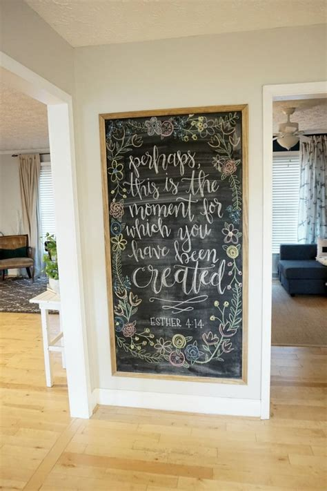 Decorating Ideas For Large Kitchen Wall by 12 Affordable Ideas For Large Wall Decor Chalkboard