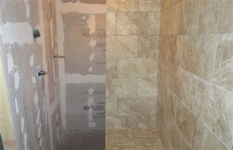subway tile showers lapse large format porcelain tile wood look plank