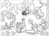Coloring Insects Pages Children Printable Bees Ants Justcolor sketch template