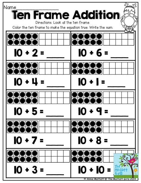ten frame addition tons of printables that help teach core concepts for kindergarten