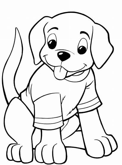Coloring Puppy Pages Draw Dog