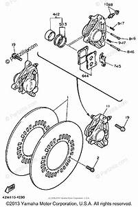 Yamaha Motorcycle 1984 Oem Parts Diagram For Front Brake