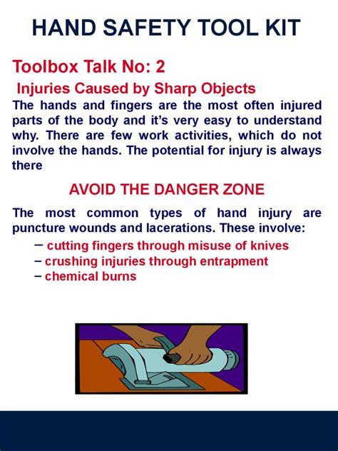 safety hand ppt tool presentation slide kit