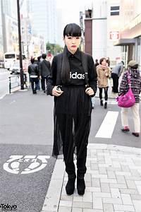 All Black Harajuku Street Style W Sheer Skirt Suede Wedges