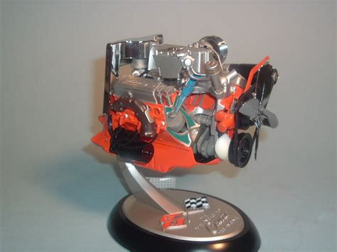 corvette chevrolet corvette   engine franklin mint