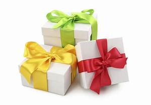 3 ribbon wrapped gifts - West London Waste