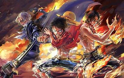 Piece Ace Luffy Sabo Team Anime Wallpapers