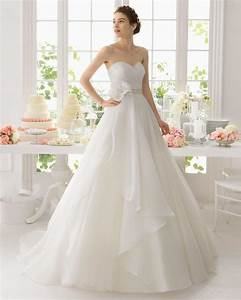 custom made a line white organza wedding dresses sweep With custom made wedding dress