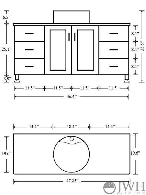 standard size  powder room  meters lighting fixtures